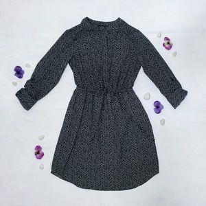 Apt. 9 - Black and White Abstract, Midi Dress